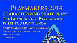 Brad Berg - Characterizing Shale Plays