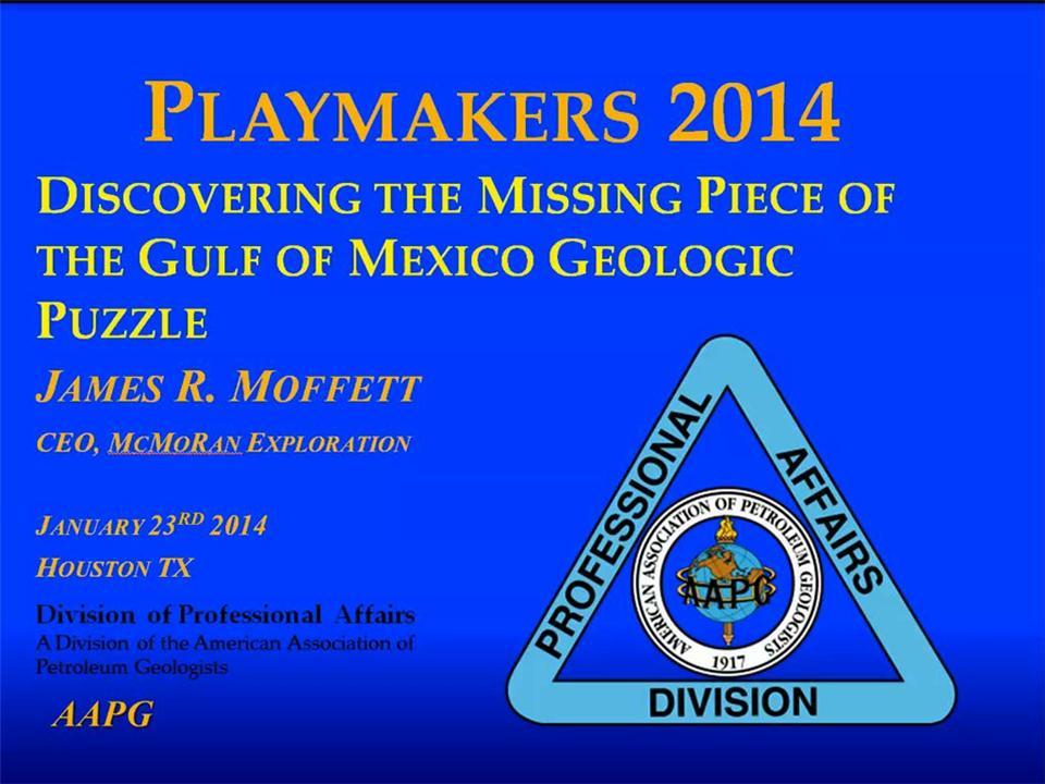 Jim Bob Moffett - Deep Gas Play in Gulf of Mexico