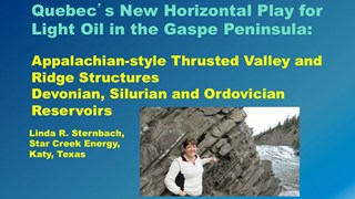 Linda Sternbach - Quebec's New Horizontal Play for Light Oil in the Gaspe Peninsula