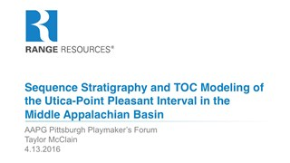 Taylor McClain - Sequence Stratigraphy and TOC Modeling of the Utica-Point Pleasant Interval in the Appalachian Basin
