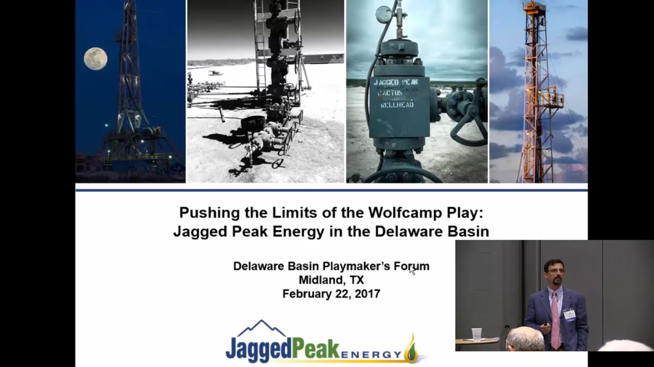 John Roesink - Pushing the Limits of the Wolfcamp Play: Jagged Peak Energy in the Delaware Basin