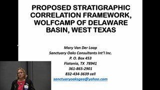 Mary Van Der Loop - Proposed Stratigraphic Correlation Framework, Wolfcamp of Delaware Basin, West Texas