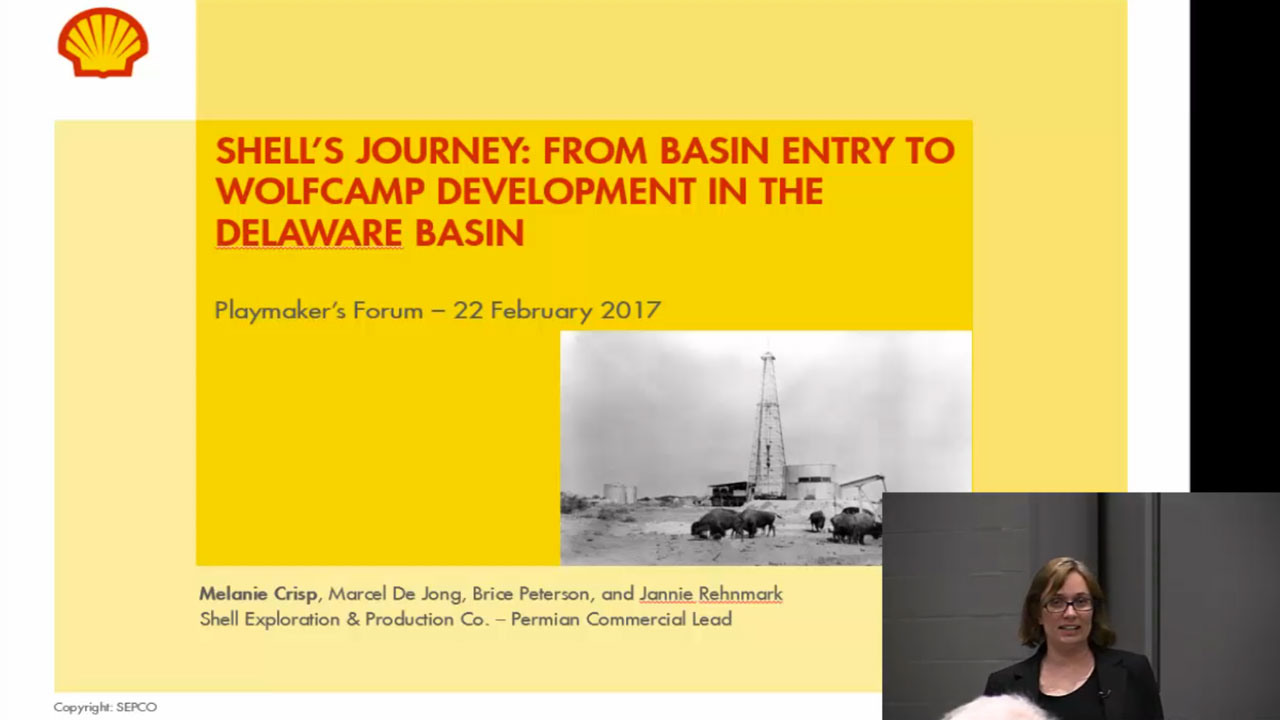 Melanie L. Crisp - Shell's Journey: From Basin Entry to Wolfcamp Development in the Delaware Basin