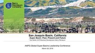 Kurt Neher - San Joaquin Basin, California
