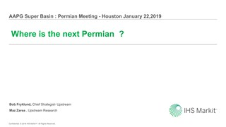 Bob Fryklund - Where is the Next Permian Basin?