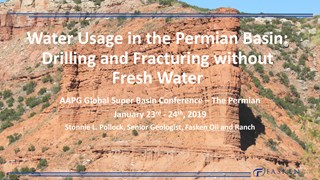 Stonnie L. Pollock - Water Usage in The Permian Basin: Drilling and Fracturing without Fresh Water