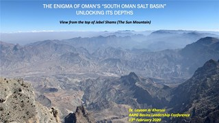Laiyyan Al Kharusi - The Enigma of Oman's South Oman Salt Basin - Unlocking its Depths