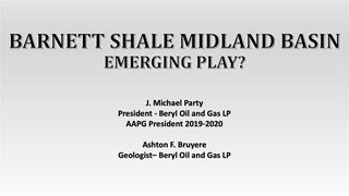 Mike Party - Permian Basin: Barnett Shale Play Emerges