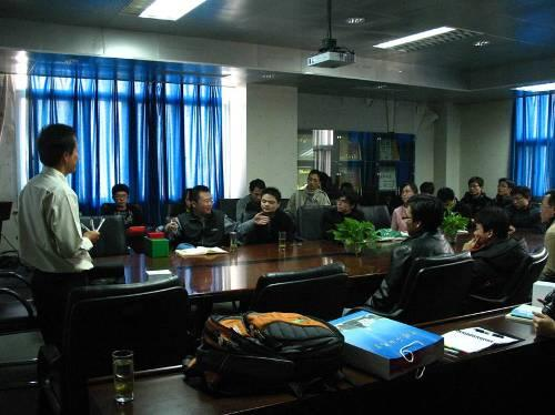 Yusak Setiawan was giving a lecture at China University of Petroleum