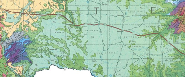 Texas Geological Highway Map Download