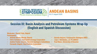 Andes Basin Research Symposium: Basin Analysis and Petroleum Systems (English and Spanish Discussion)