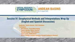 Andes Basin Research Symposium Panel Discussion: Geophysical Methods and Interpretations (English and Spanish Discussion)