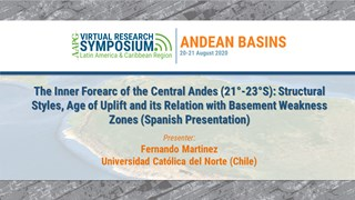 The Inner Forearc of the Central Andes (21°-23°S): Structural Styles, Age of Uplift and its Relation with Basement Weakness Zones (Spanish Presentation)