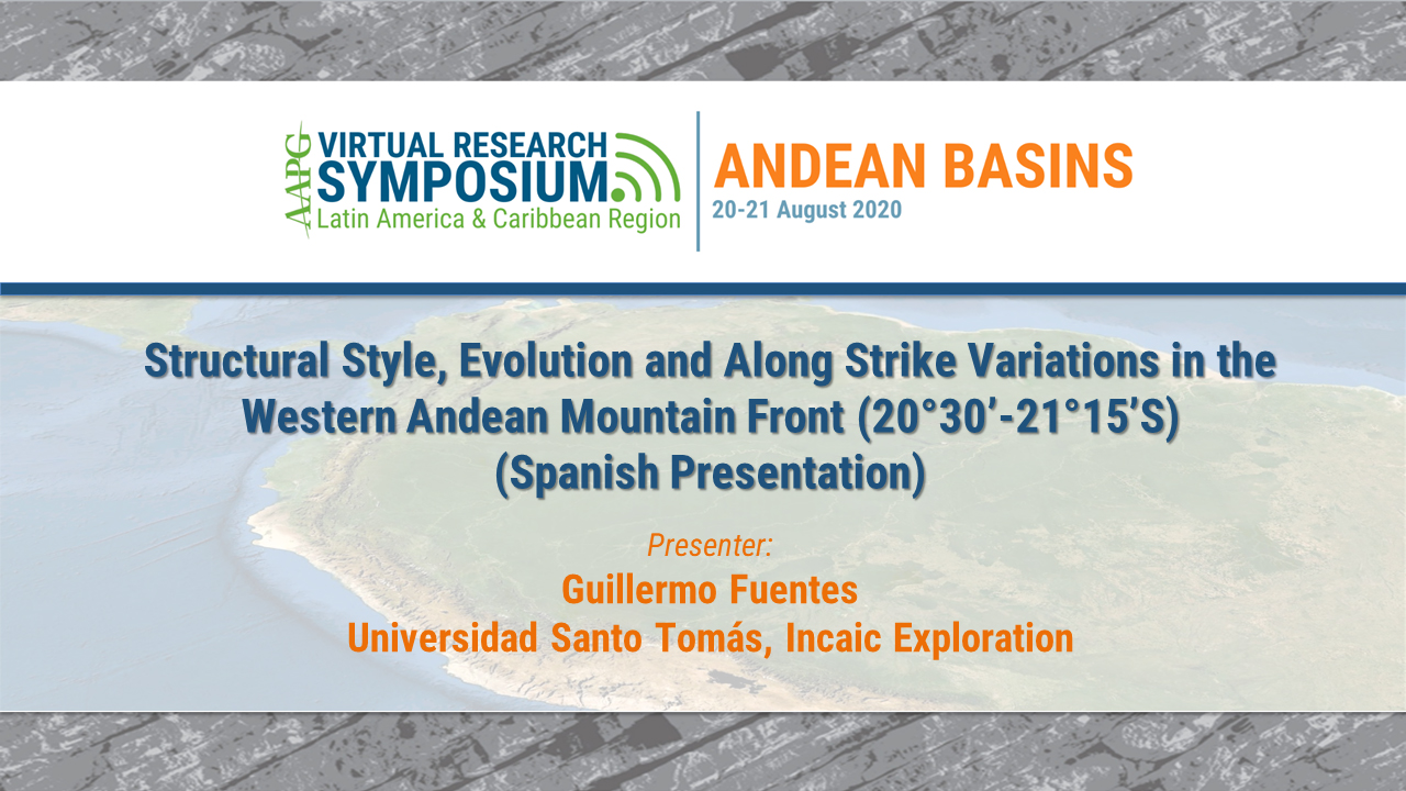 Structural Style, Evolution and Along Strike Variations in the Western Andean Mountain Front (20°30'-21°15'S) (Spanish Presentation)