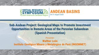 Sub-Andean Project: Geological Maps to Promote Investment Opportunities in Remote Areas of the Peruvian Sub-Andean (Spanish Presentation)
