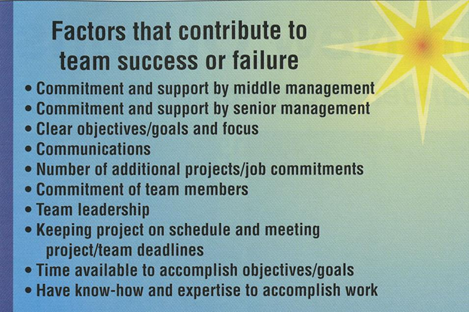 Managers Key to Team Success