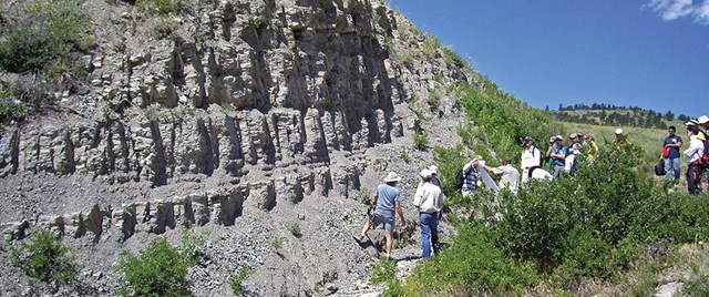 Niobrara Outcrop - Source: AAPG Explorer - Nov 2010