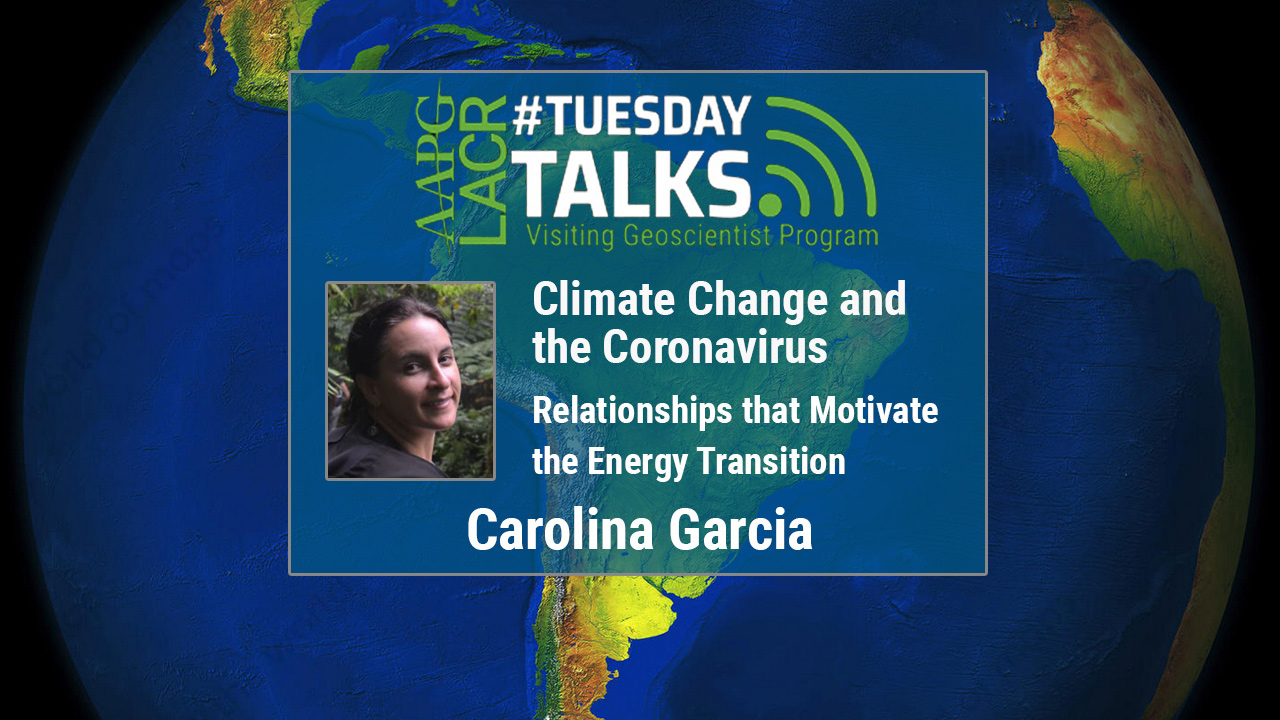 Carolina Garcia - Climate Change and the Coronavirus: Relationships that Motiviate the Energy Transition - Spanish Talk