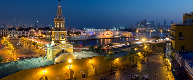 Cartagena Skyline at Night