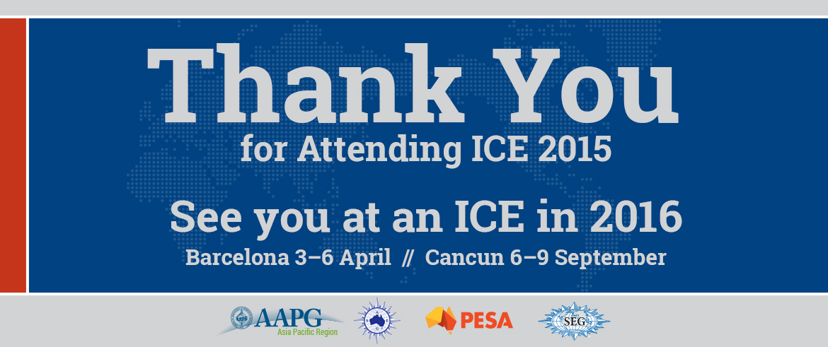 Thanks for attending ICE 2015