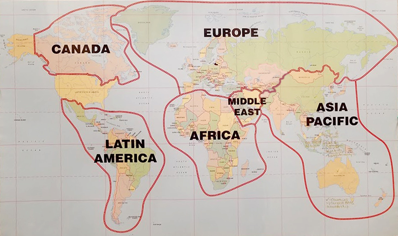AAPG Region Map